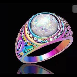 Beautiful fire opal ring